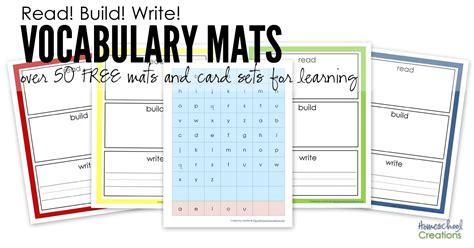 make vocabulary cards read build write printables