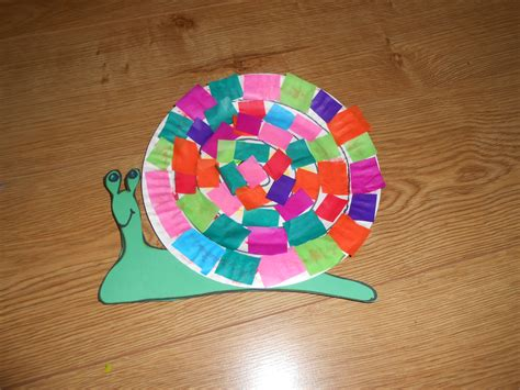 snail paper plate craft snail crafts for preschoolers
