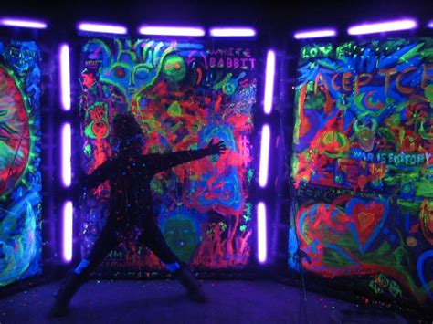 black light and glow in the paint glow in the and black light ideas