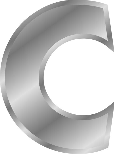 silver letter onlinelabels clip effect letters alphabet silver