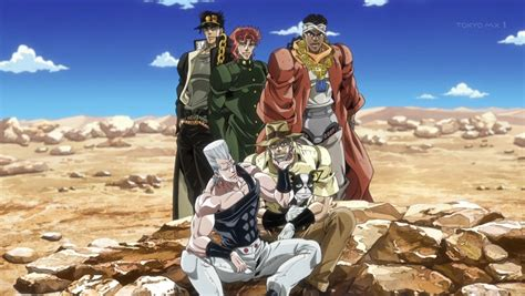 jojo stardust crusaders winter 2015 ep impressions part 3 sticky jellyfish