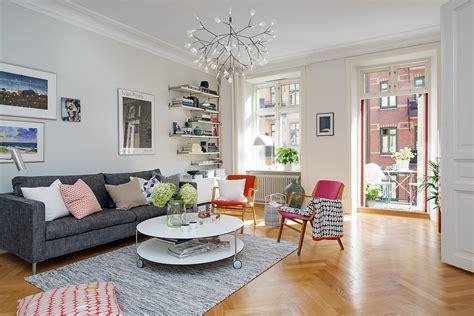 apartment living room design colorful scandinavian apartment captures inspiring details