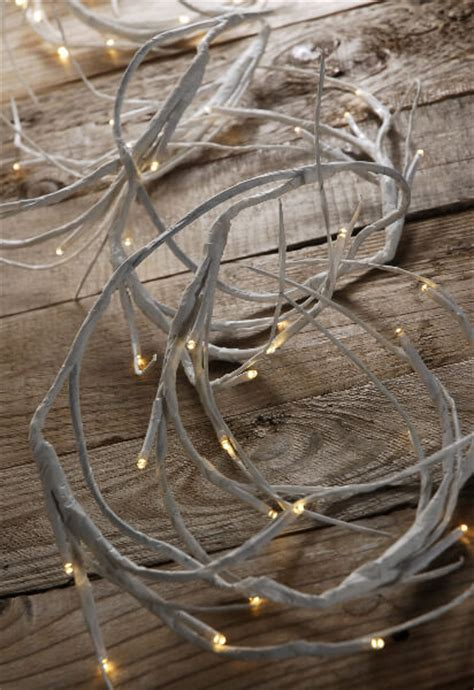 white lighted garland led warm white 6 battery operated white branch garland