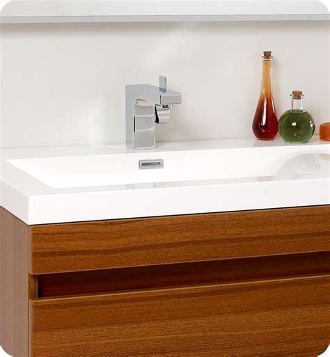teak bathroom vanities fresca largo teak modern bathroom vanity and wavy sinks
