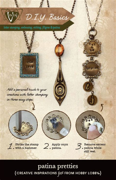 hobby lobby jewelry hobbylobby projects patina pretties