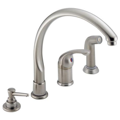 delta single handle kitchen faucet repair single handle kitchen faucet with spray soap dispenser 174 sswf delta faucet