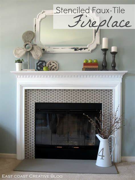 chalk paint fireplace tile how to paint a fireplace infarrantly creative