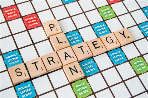 scrabble strategy tips strategy plan stock photography image 33167672