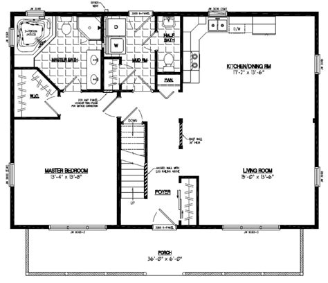 28 x 40 house plans ranch house plans 28x40 house free home plans