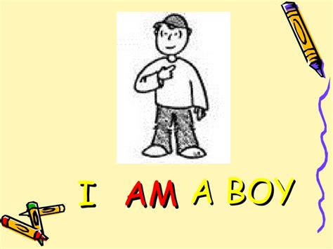 i am a i am he is they are verb to be