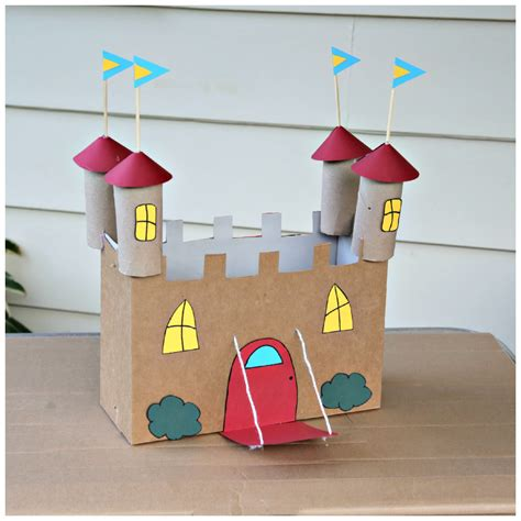 Recycled Cardboard Castle Craft 183 Kix Cereal