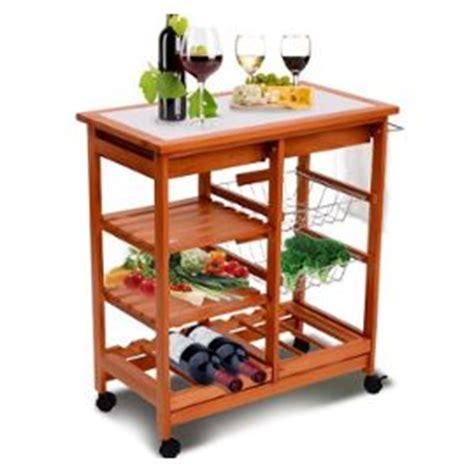 meuble rangement cuisine chariot de service desserte a roulettes roulante en bois 20