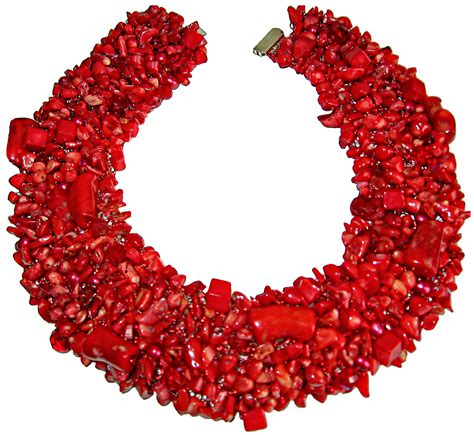 coral for jewelry coral statement collar necklace