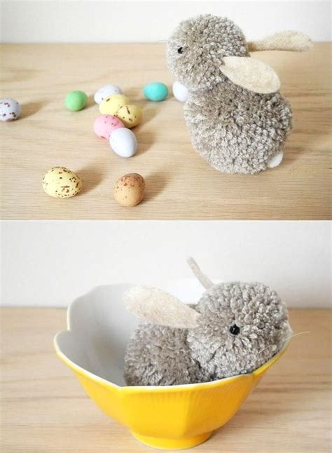 simple diy crafts for diy pom pom bunny easy easter craft decoration