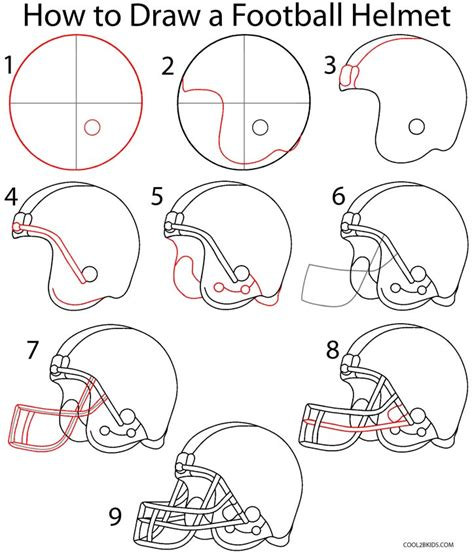 how to draw step by step how to draw a football helmet step by step pictures
