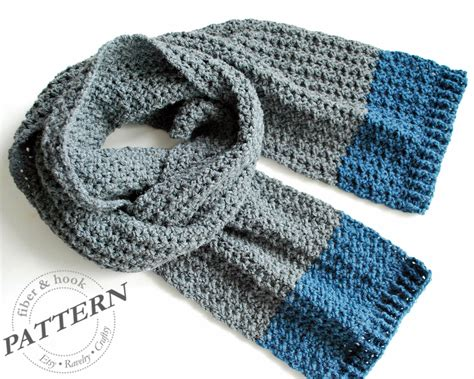 simple mens scarf knitting pattern mens crochet scarf free pattern crochet and knit