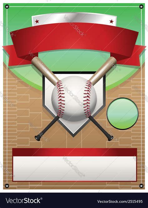 baseball tournament flyer background royalty free vector