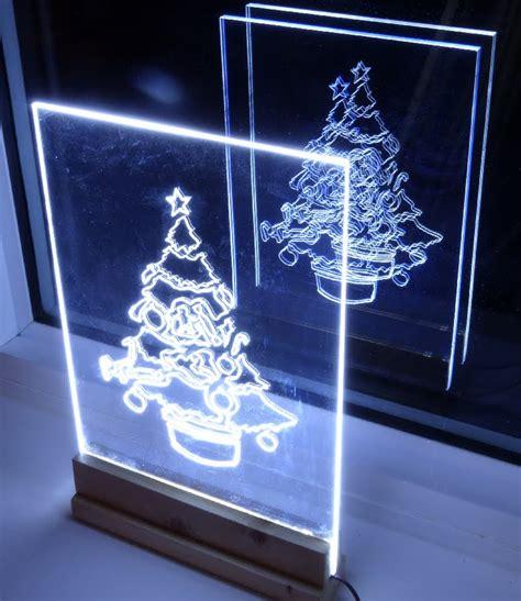 acrylic decorations how to make acrylic led tree edge light sign