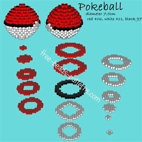 pokeball perler bead pattern pokeball 3d perler hama playbox pyssla pattern