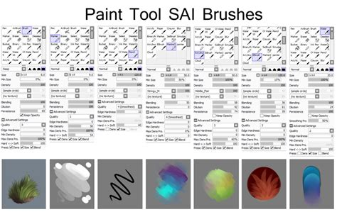 paint tool sai pack sai brushes by isihock on deviantart