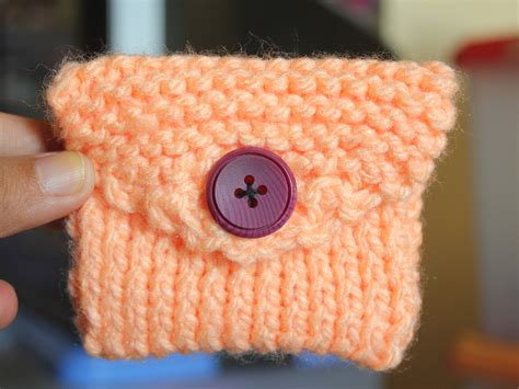 how to knit a purse how to knit a coin purse with pictures wikihow