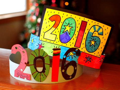 year arts and crafts for free printable new year s crown pink stripey socks