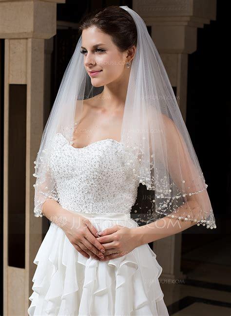 beaded wedding veil two tier bridal veils with beaded edge 006035735