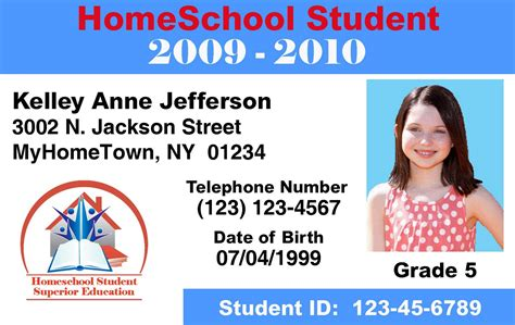 how to make a student id card identification card templates