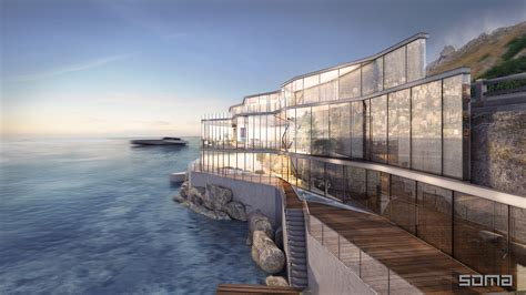 Glass Block Designs For Bathrooms amazing glass home on the edge of sea and rock