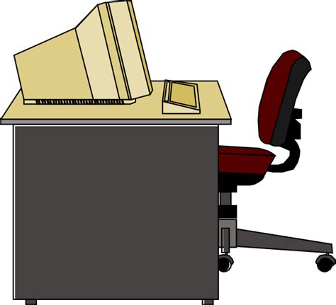 office desk clipart computer desk clip at clker vector clip