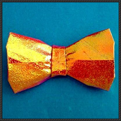 bow tie origami papercraftsquare new paper craft how to fold an