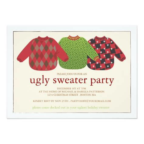 sweater invitations free sweater invitation zazzle co uk