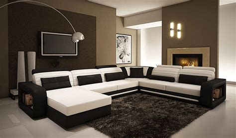 modern leather sofas and sectionals alina contemporary black and white leather sectional sofa