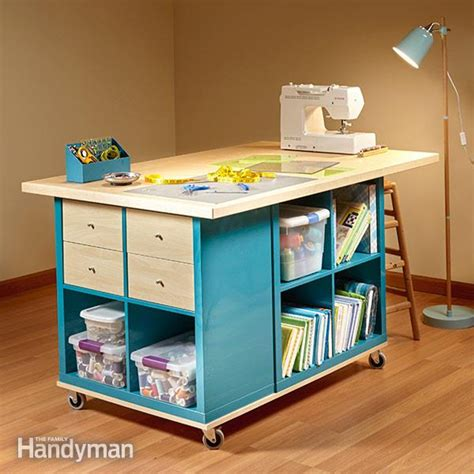 ikea craft table ikea kallax hack craft room storage the family handyman