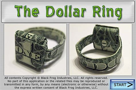 dollar bill origami ring 301 moved permanently