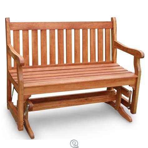 eucalyptus wood patio furniture eucalyptus wood glider bench outdoor patio