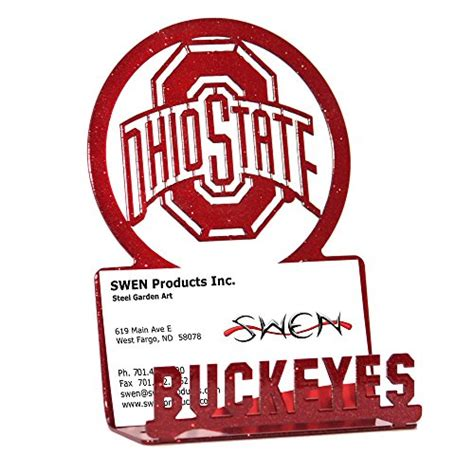 ohio state desk accessories ohio state business card holder ohio state buckeyes