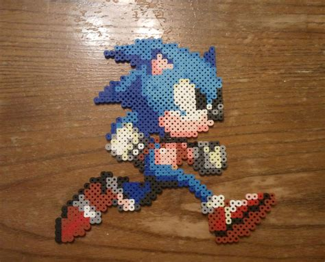 sonic perler perler sonic the hedgehog by yolei s on deviantart