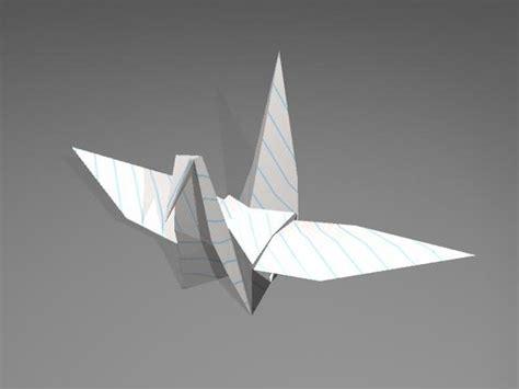 origami models 3d origami crane model