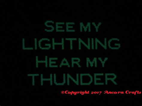 glow in the thunder lightning cross stitch pattern crafty empowerment ancora