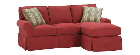 small sofa slipcover small faux slipcovered rolled arm sectional sofa w chaise
