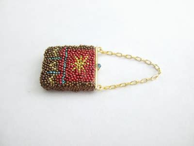 beaded purse tutorial andrea thieck miniatures link of the day beaded purse