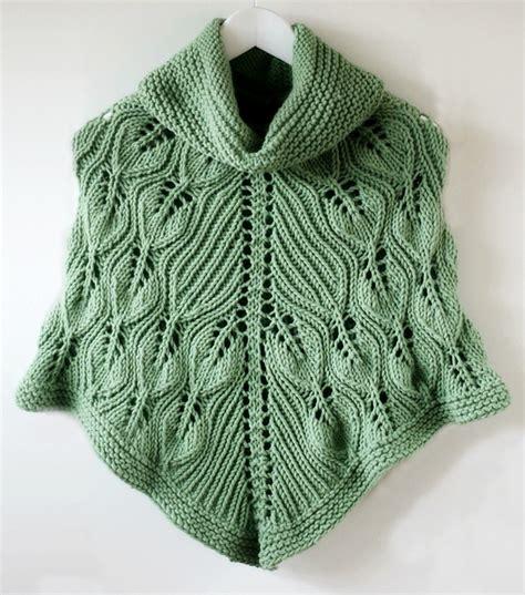 knitted poncho patterns poncho knitting pattern
