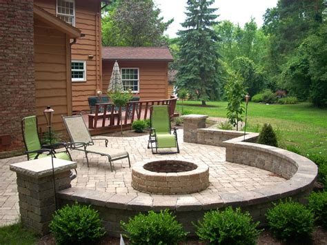 Backyard Fire Pit   Traditional   Patio   Cleveland   by Graf's Landscape & Design