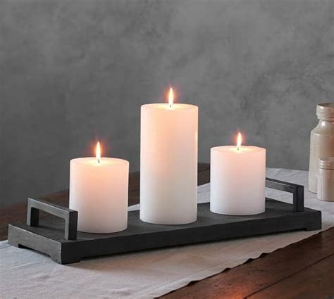 Candle Tray by Gray Rectangle Candle Tray