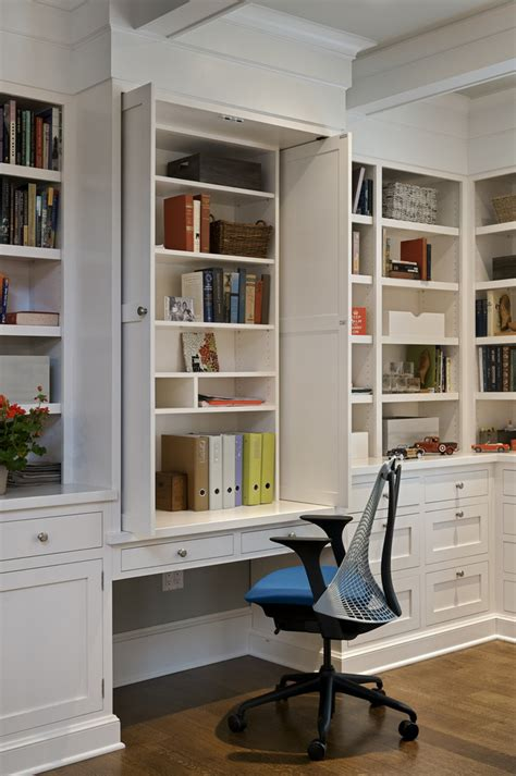 Crown Molding On Kitchen Cabinets Pictures by Built In Desk Cabinets Family Room Modern With Built In