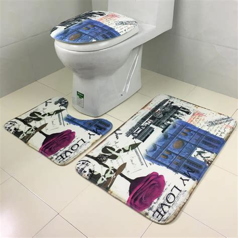 bathroom toilet rugs 3pcs bathroom lid toilet seat cover pedestal rug bathroom