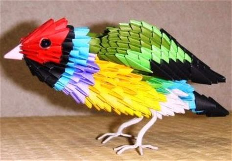 how to make 3d origami bird origami bird rainbow finch 3d make origami easy