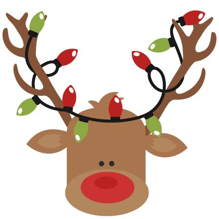 reindeer with lights reindeer with lights svg cutting files for