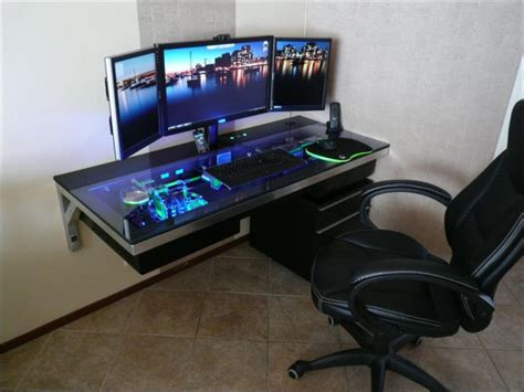 computer desk mod custom built computer desk mod in pictures